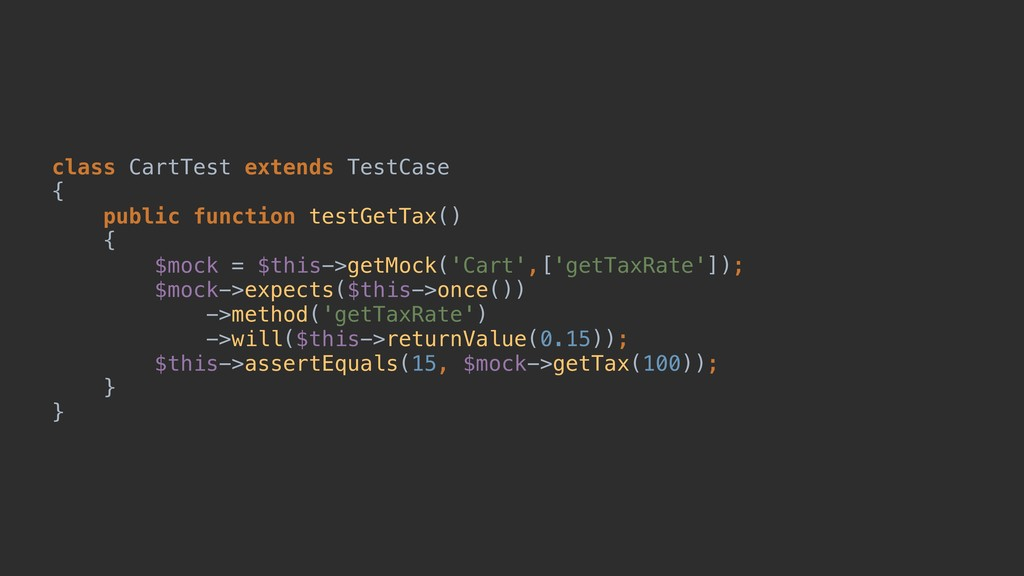 class CartTest extends TestCase { public functi...