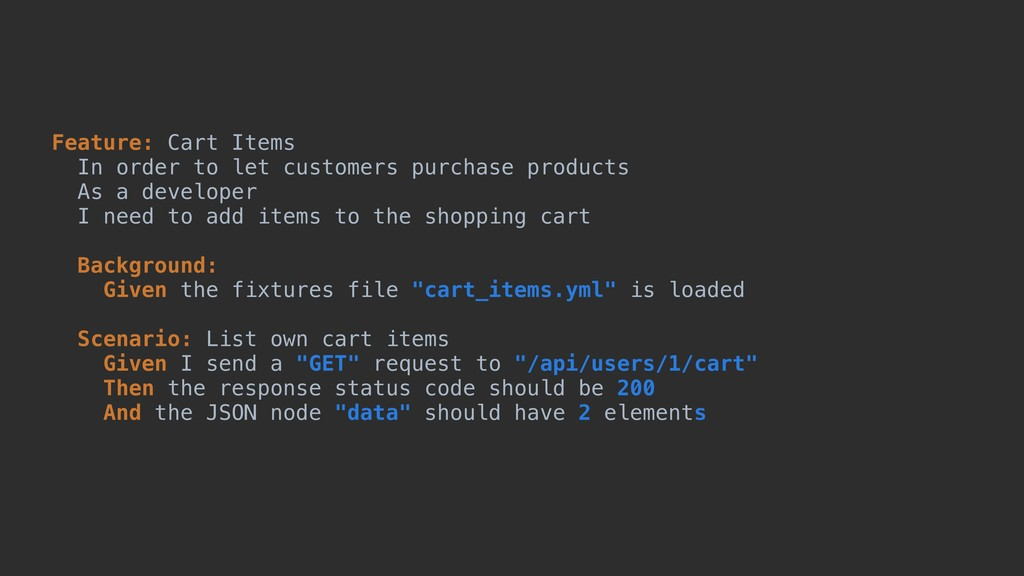 Feature: Cart Items In order to let customers p...