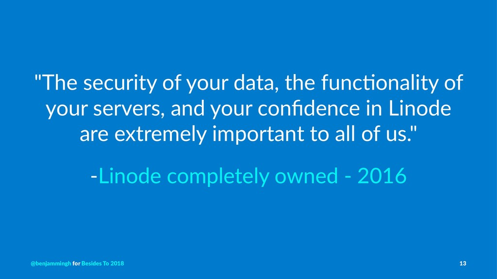 """""""The security of your data, the func3onality of..."""