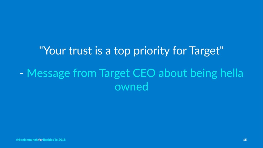 """""""Your trust is a top priority for Target"""" - Mes..."""