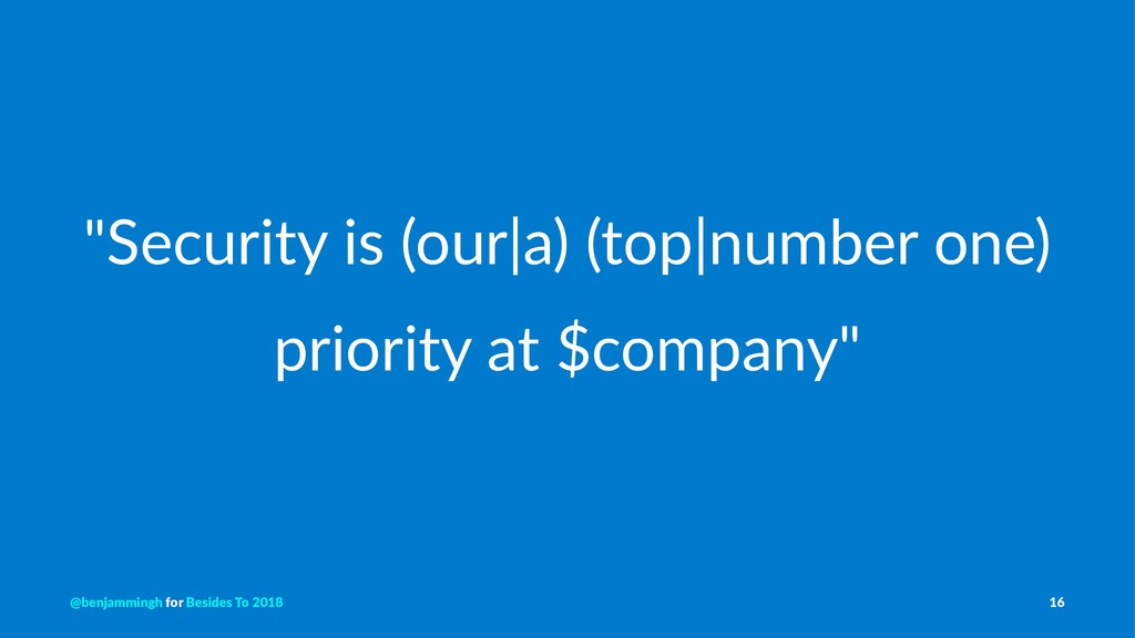 """""""Security is (our a) (top number one) priority ..."""