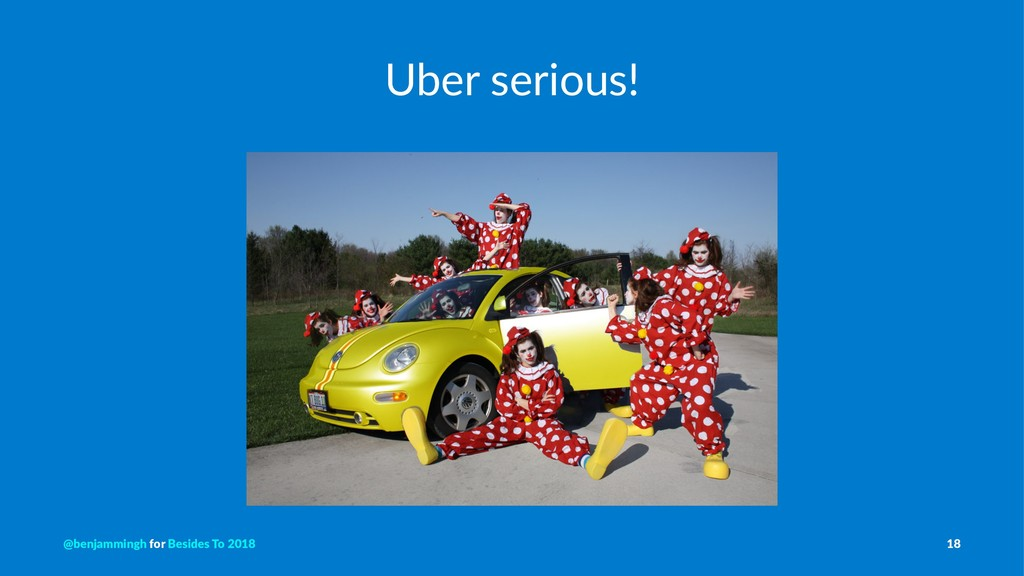 Uber serious! @benjammingh for Besides To 2018 ...