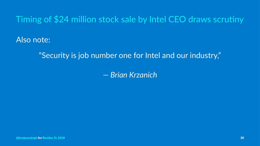 Timing of $24 million stock sale by Intel CEO d...