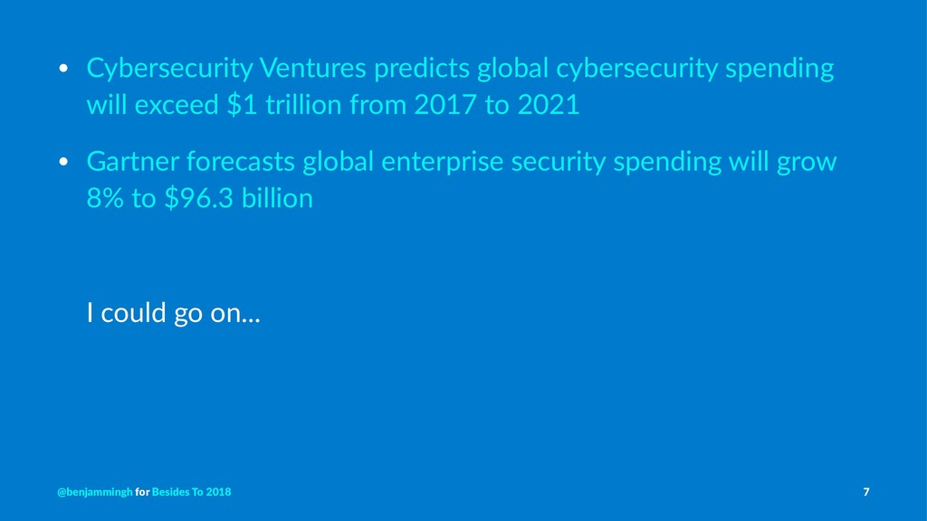 • Cybersecurity Ventures predicts global cybers...