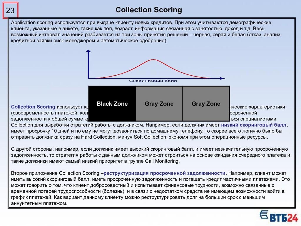 23 Application scoring используется при выдаче ...