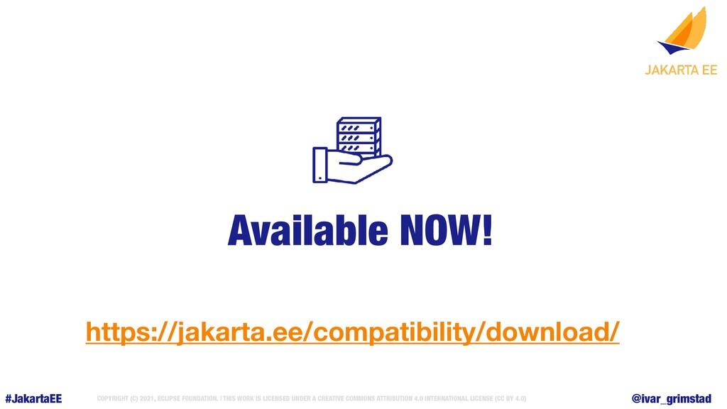 #JakartaEE @ivar_grimstad COPYRIGHT (C) 2021, E...