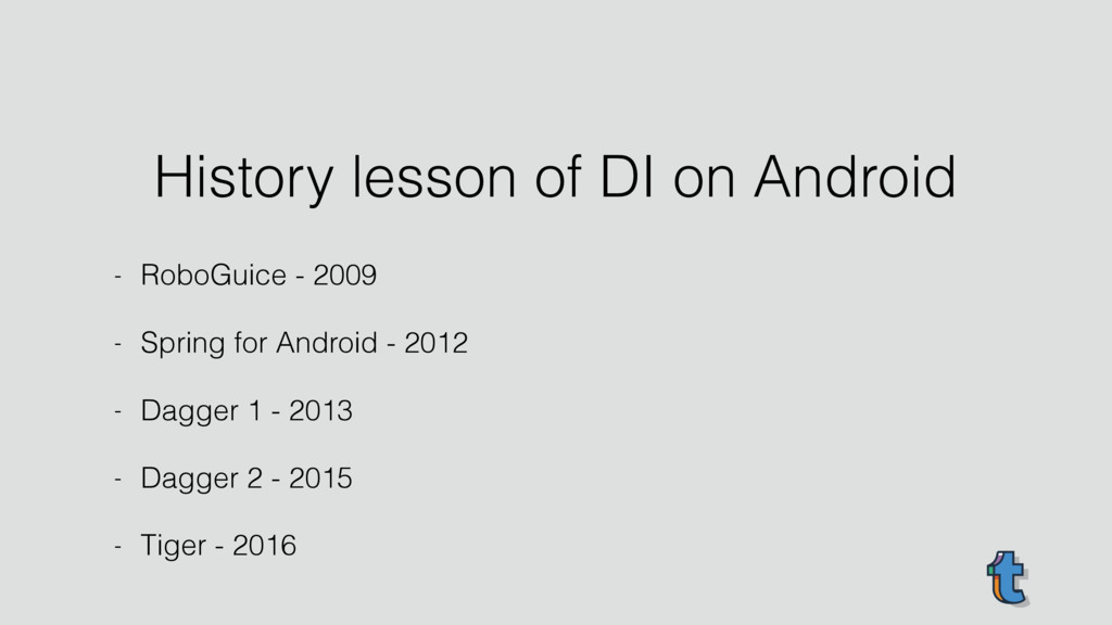 History lesson of DI on Android - RoboGuice - 2...