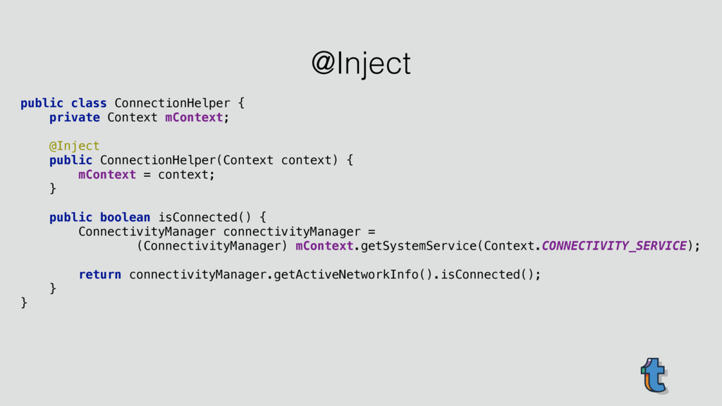 public class ConnectionHelper { private Contex...