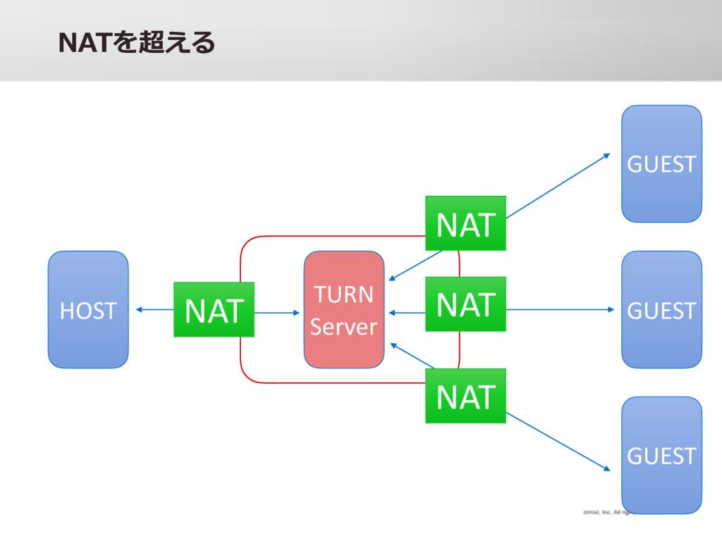 =4B b HOST GUEST GUEST GUEST TURN Server NAT N...