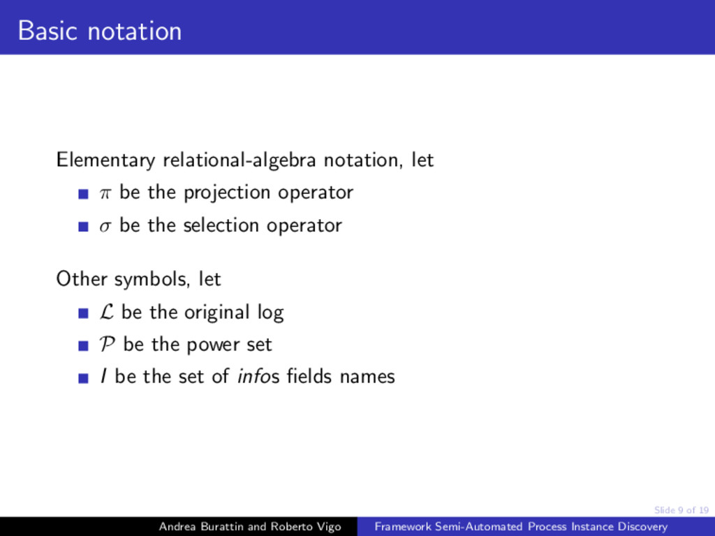 Slide 9 of 19 Basic notation Elementary relatio...