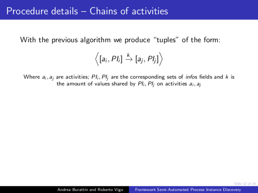 Slide 12 of 19 Procedure details – Chains of ac...