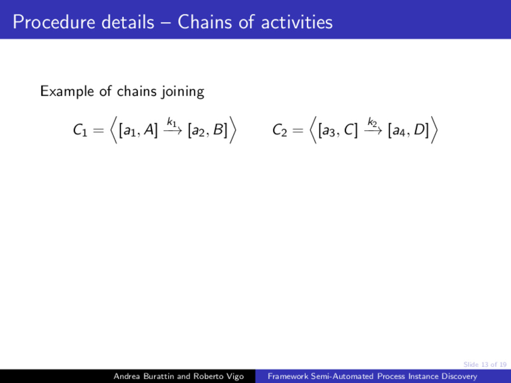 Slide 13 of 19 Procedure details – Chains of ac...