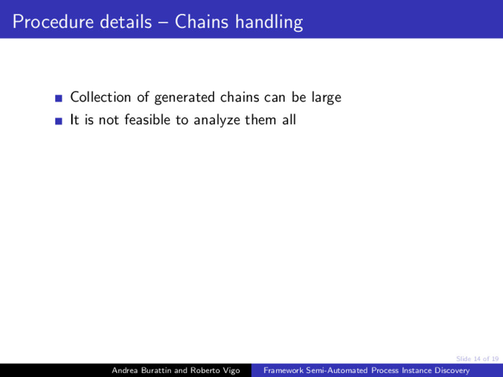 Slide 14 of 19 Procedure details – Chains handl...