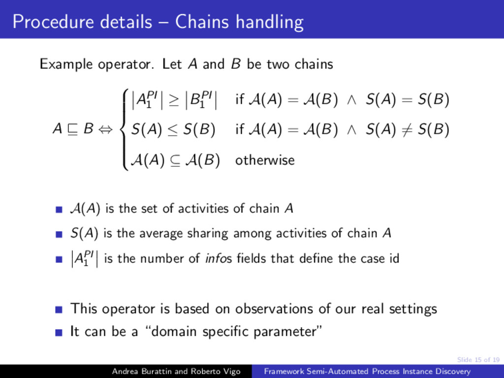 Slide 15 of 19 Procedure details – Chains handl...