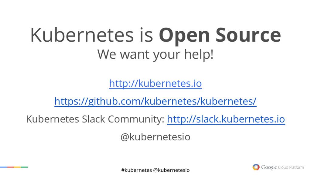 #kubernetes @kubernetesio Kubernetes is Open So...