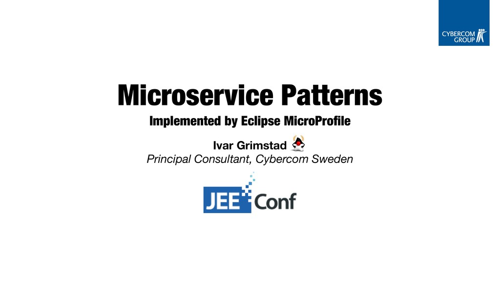 Microservice Patterns Implemented by Eclipse Mi...