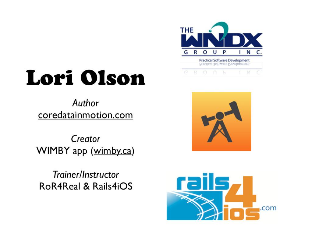 Lori Olson Author coredatainmotion.com Creator ...