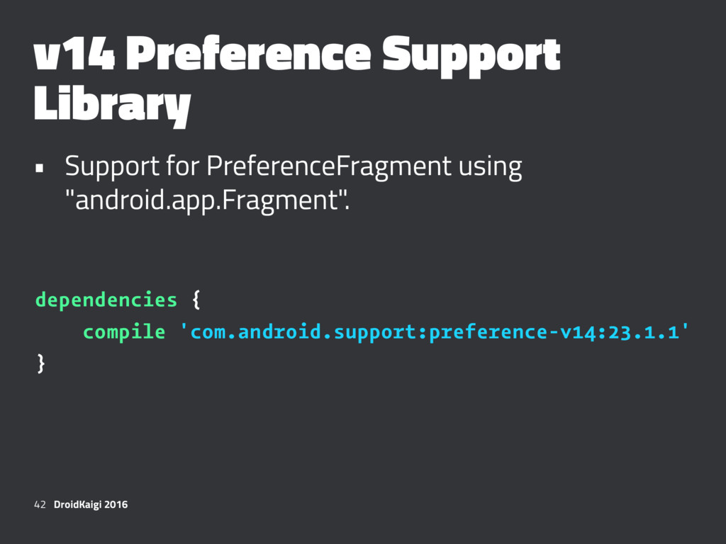 v14 Preference Support Library • Support for Pr...