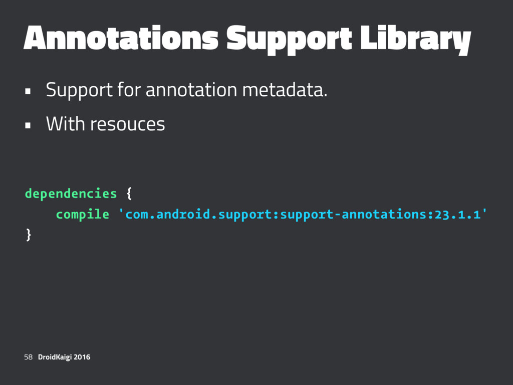 Annotations Support Library • Support for annot...