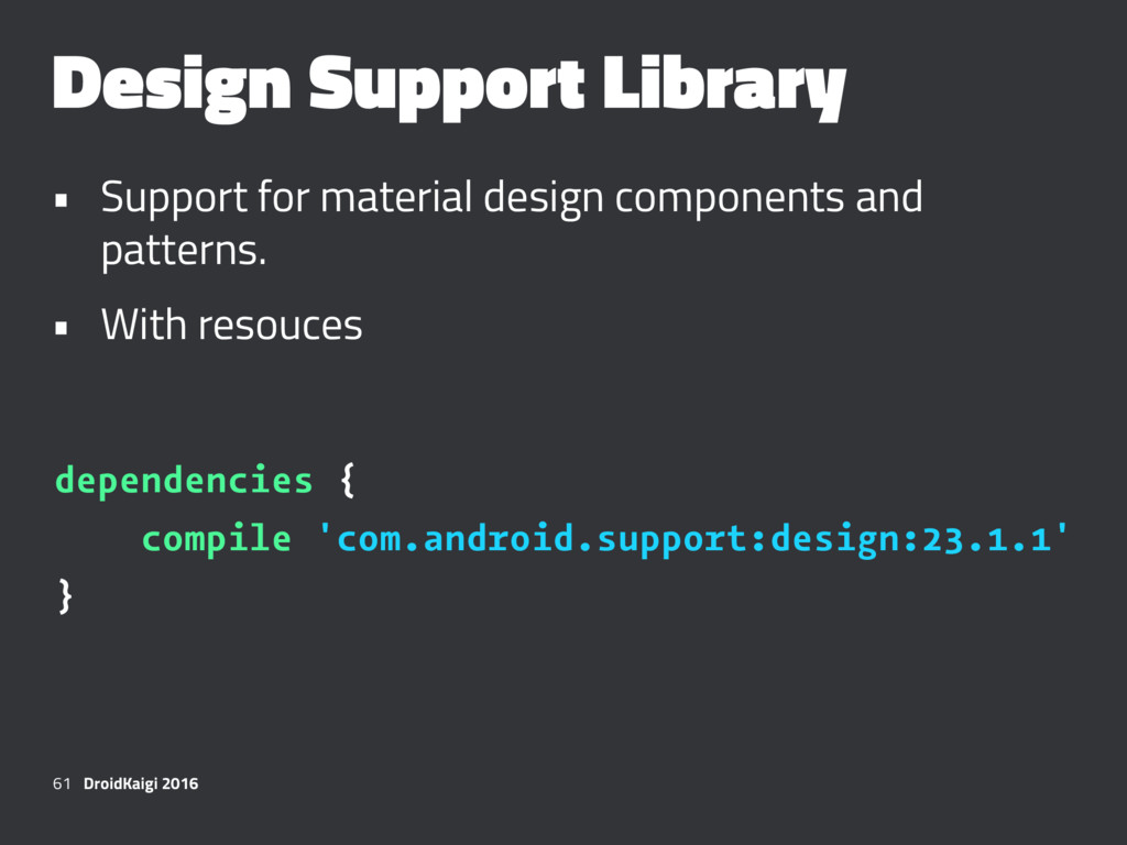 Design Support Library • Support for material d...