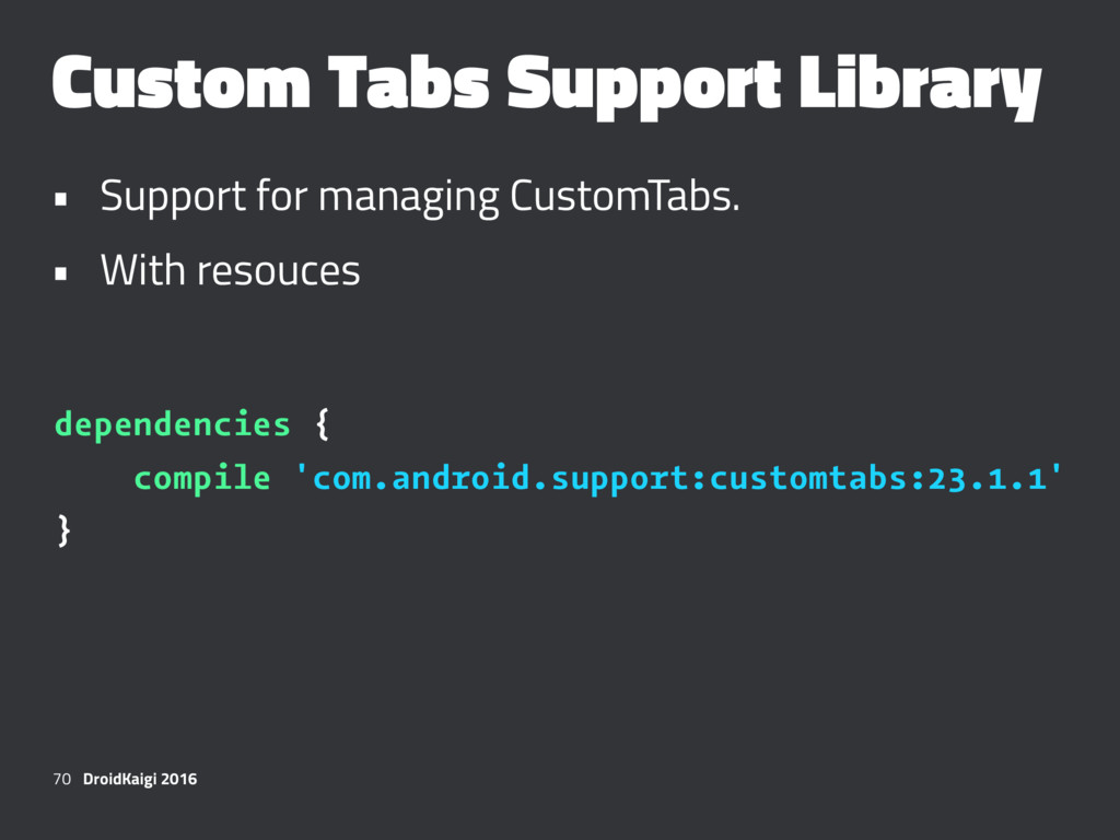 Custom Tabs Support Library • Support for manag...