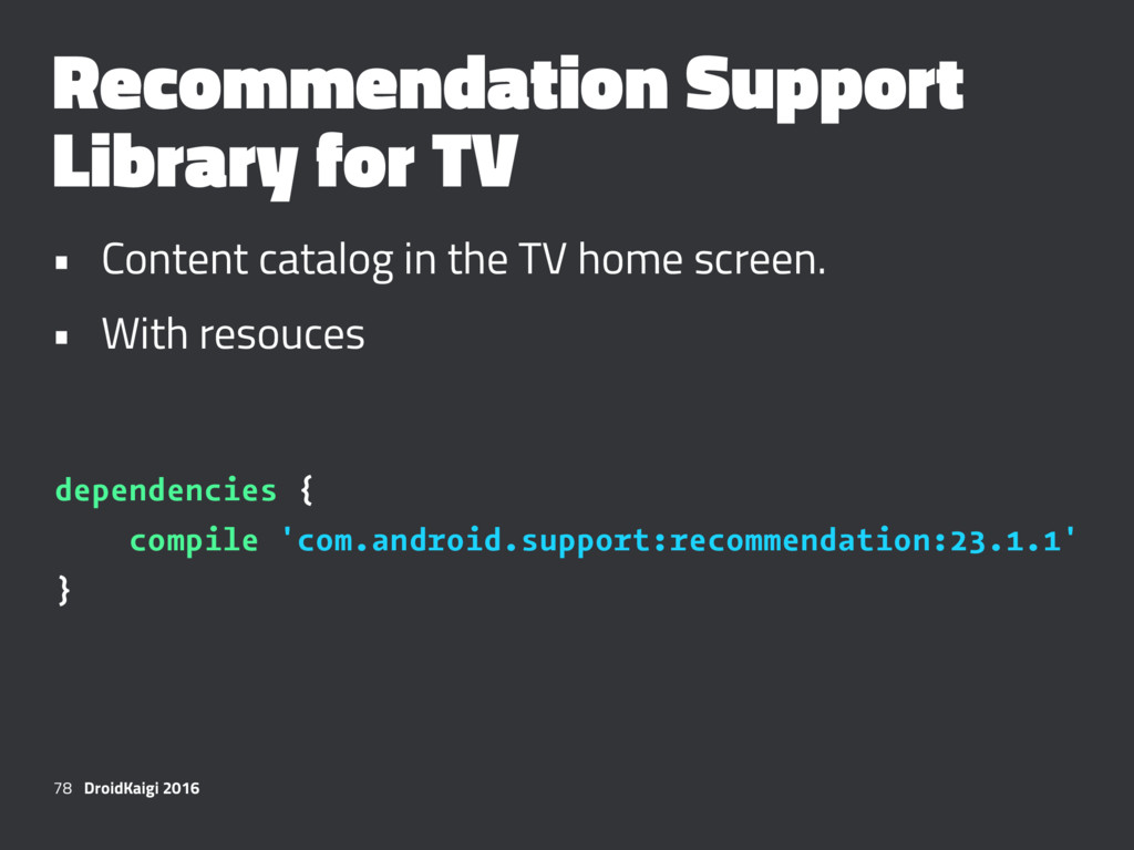 Recommendation Support Library for TV • Content...