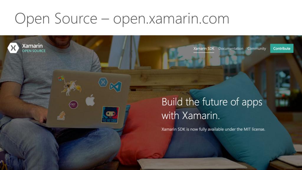 Open Source – open.xamarin.com