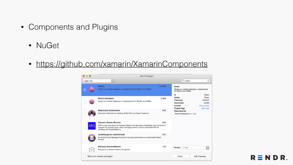 • Components and Plugins • NuGet • https://gith...