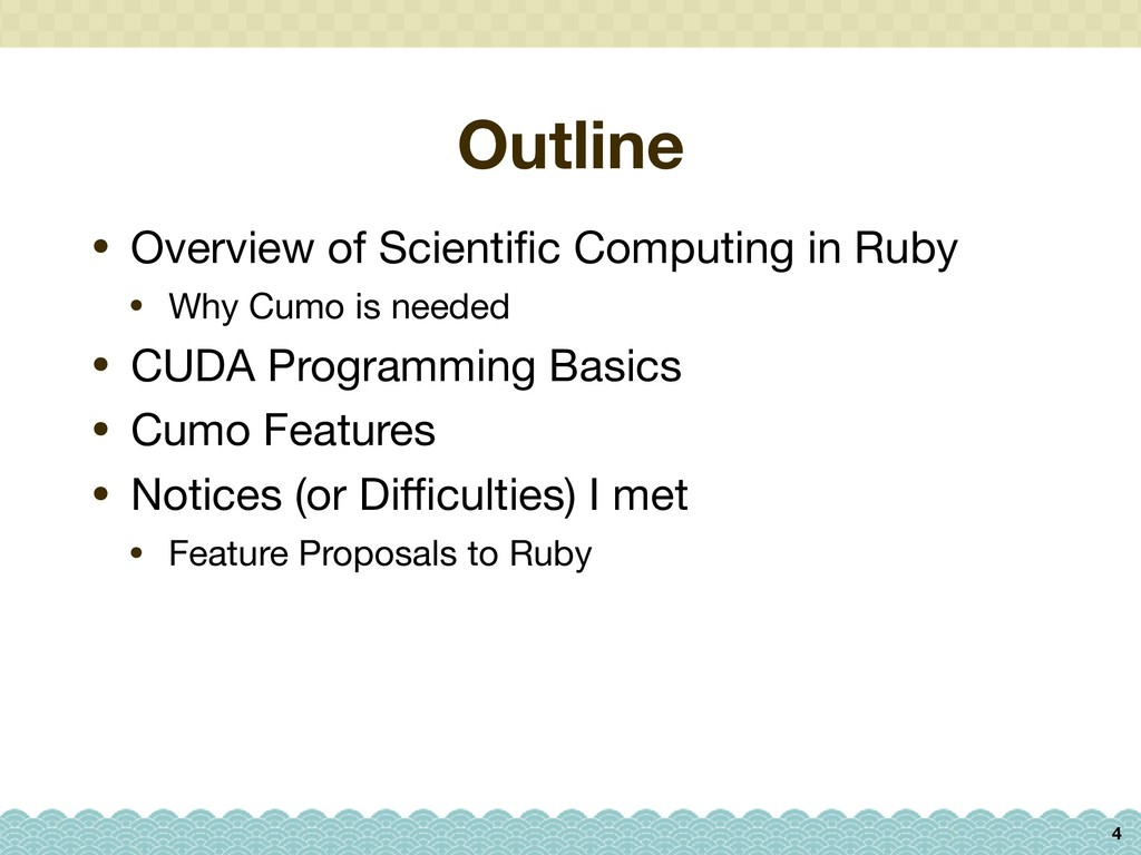 Outline 4 • Overview of Scientific Computing in ...