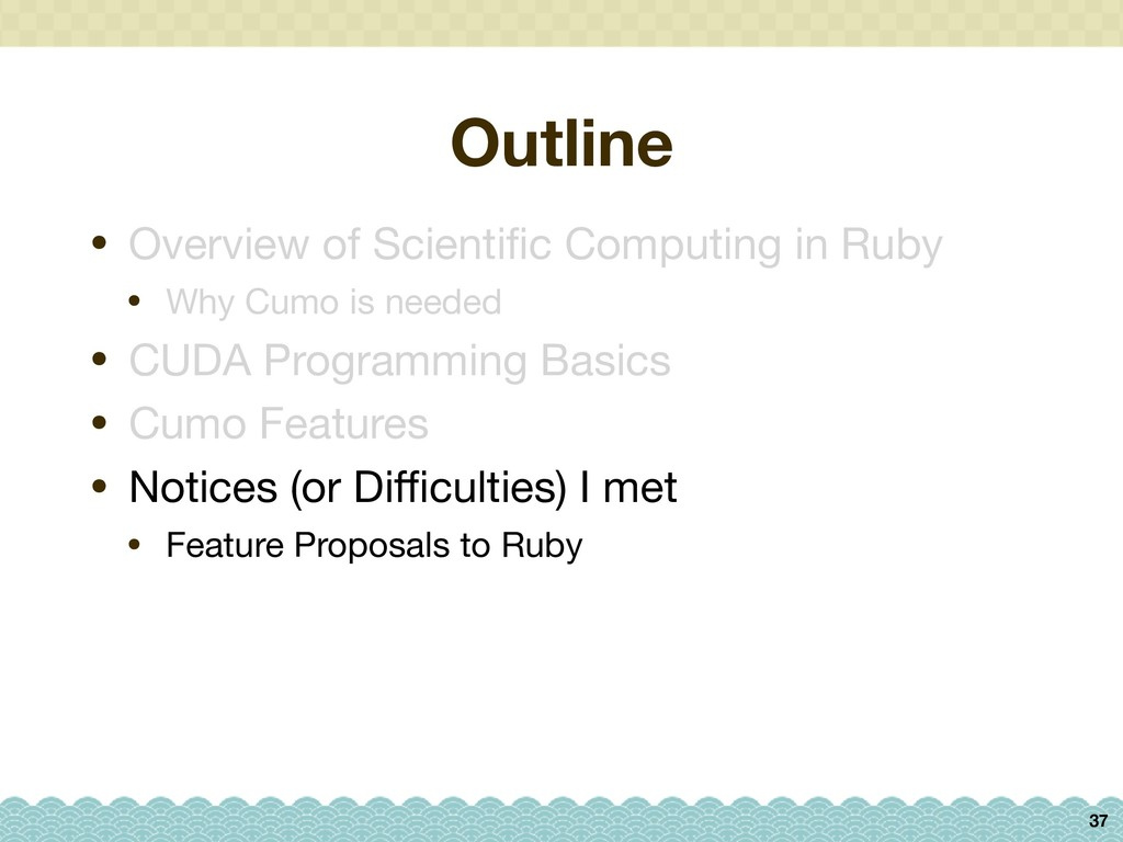 Outline 37 • Overview of Scientific Computing in...