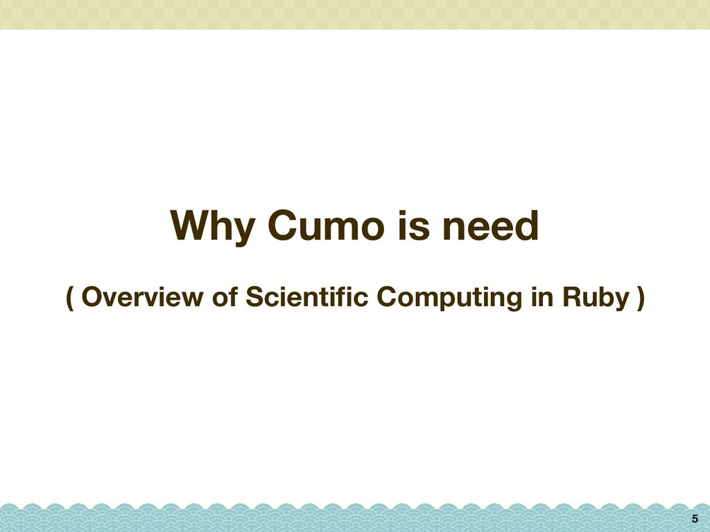 Why Cumo is need 5 ( Overview of Scientific Comp...