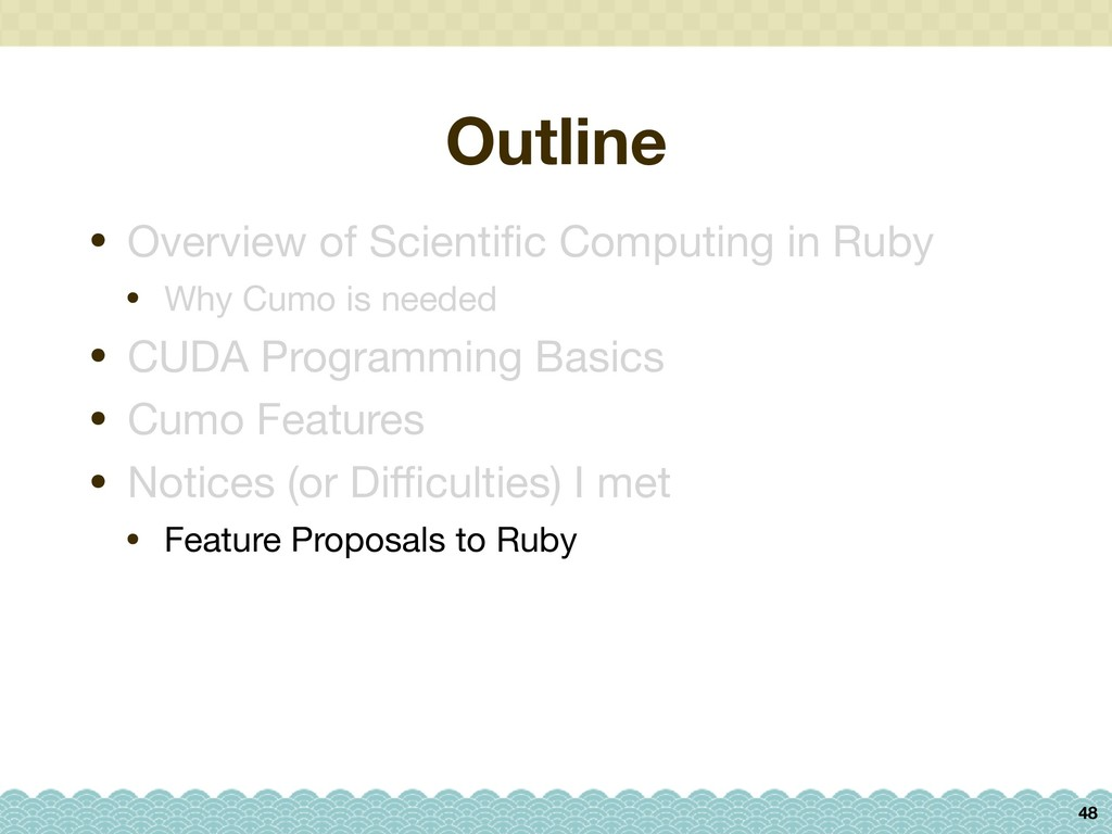 Outline 48 • Overview of Scientific Computing in...