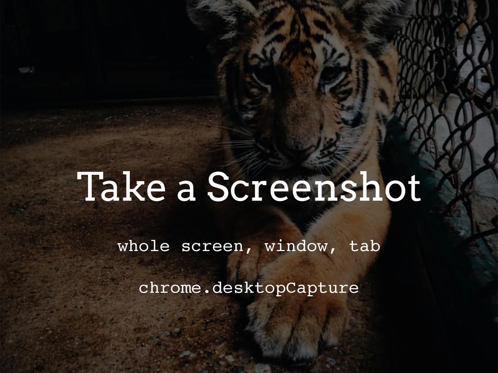 Take a Screenshot whole screen, window, tab chr...