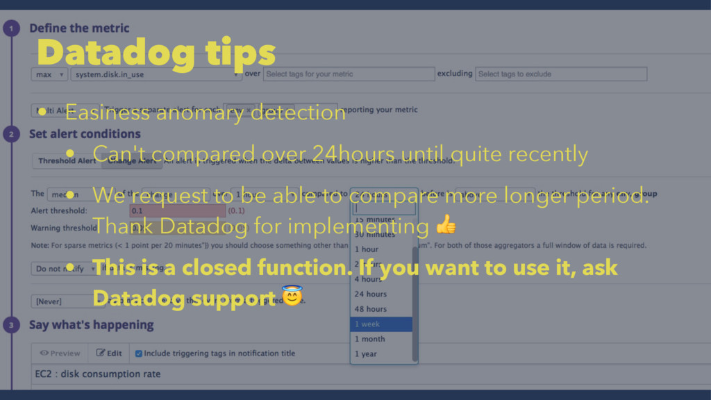 Datadog tips • Easiness anomary detection • Can...