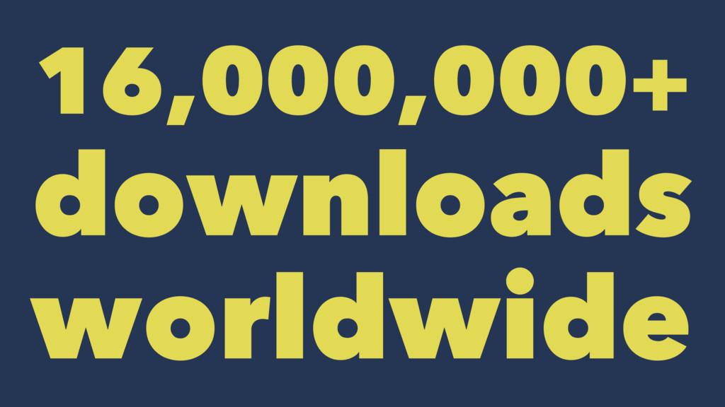 16,000,000+ downloads worldwide