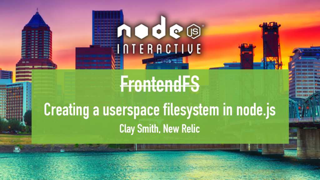FrontendFS Creating a userspace filesystem in n...