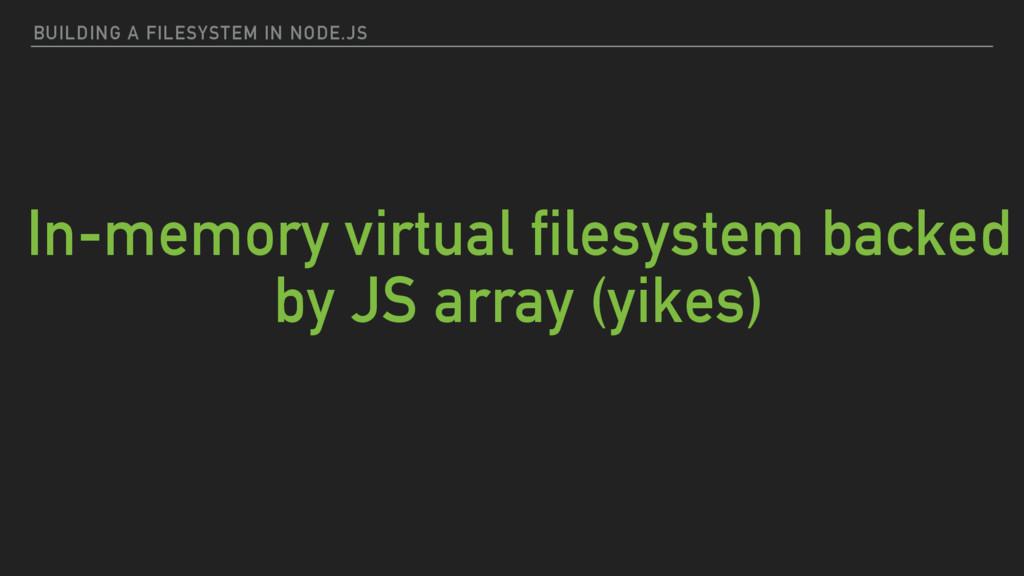 BUILDING A FILESYSTEM IN NODE.JS In-memory virt...