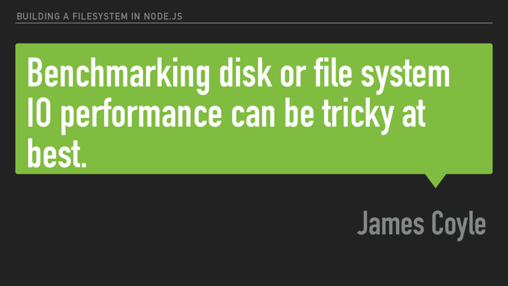 Benchmarking disk or file system IO performance...