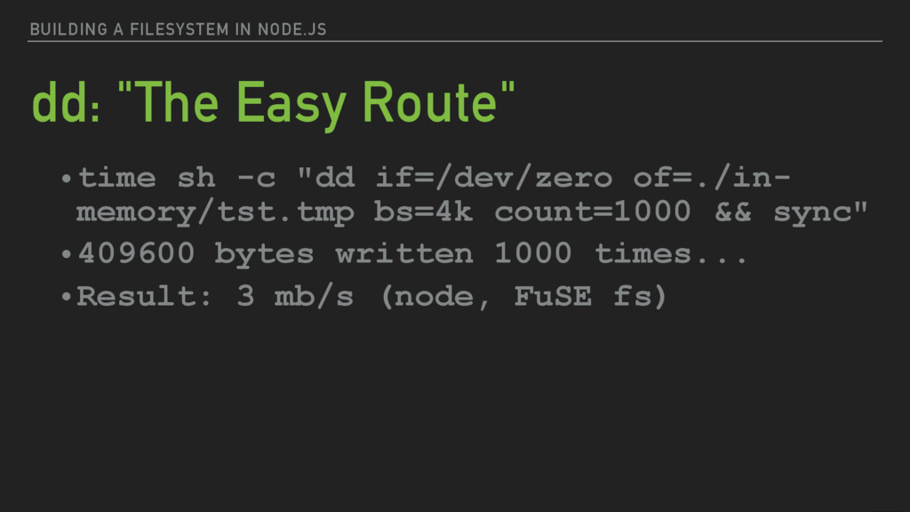 """BUILDING A FILESYSTEM IN NODE.JS dd: """"The Easy ..."""