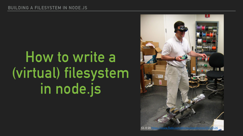 BUILDING A FILESYSTEM IN NODE.JS How to write a...