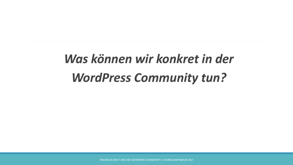 Was können wir konkret in der WordPress Communi...