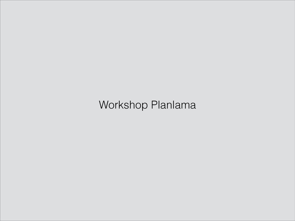 Workshop Planlama