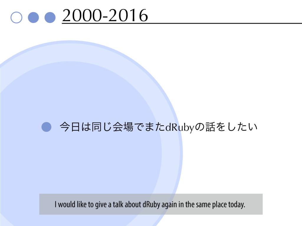 2000-2016 ࠓಉ͡ձͰ·ͨdRubyͷΛ͍ͨ͠ I would like to...