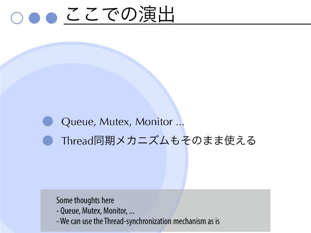 ͜͜Ͱͷԋग़ Queue, Mutex, Monitor ... ThreadಉظϝΧχζϜ...
