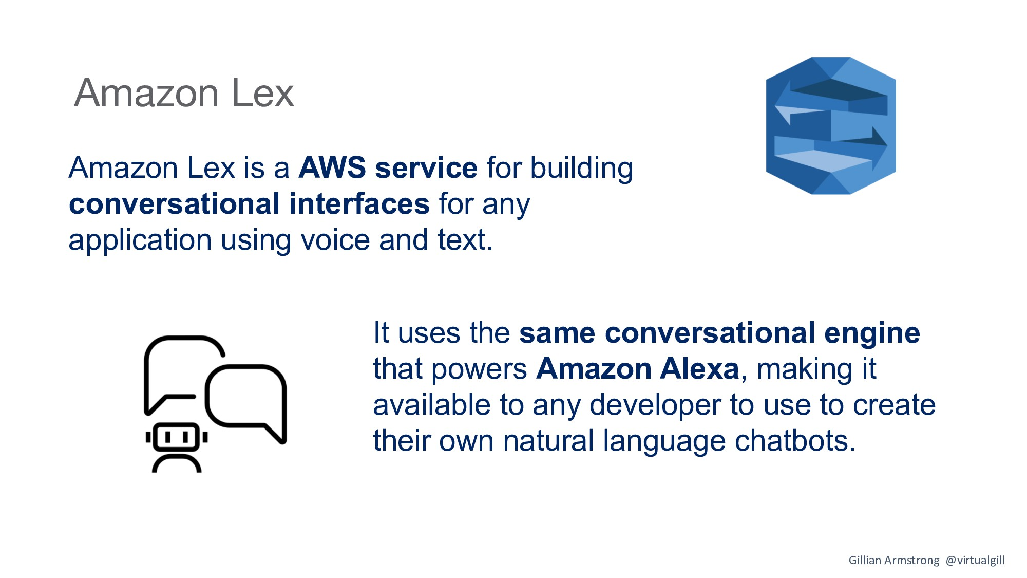 Amazon Lex Amazon Lex is a AWS service for buil...