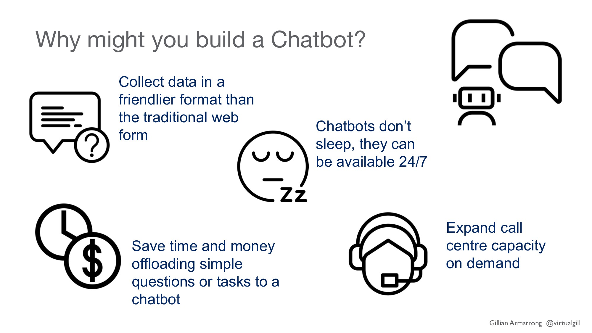 Why might you build a Chatbot? Expand call cent...