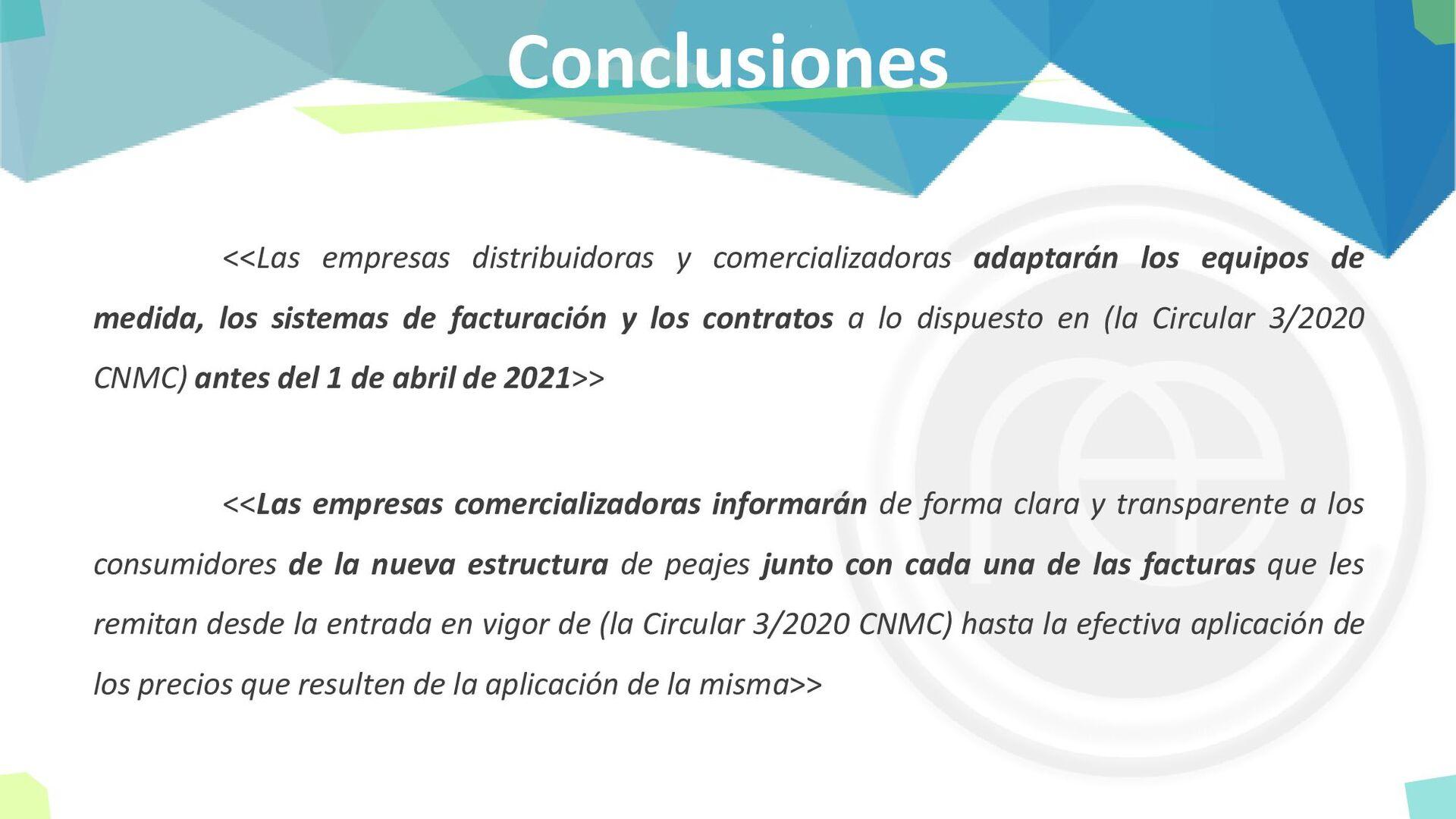 Conclusiones <<Las empresas distribuidoras y co...