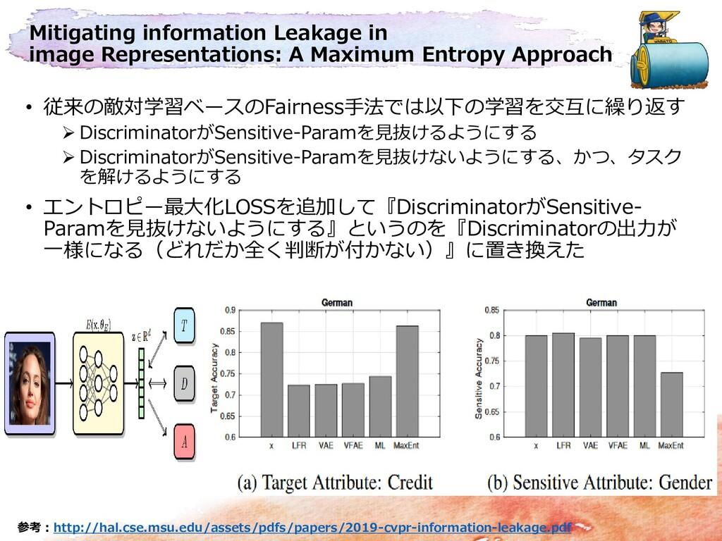 Mitigating information Leakage in image Represe...