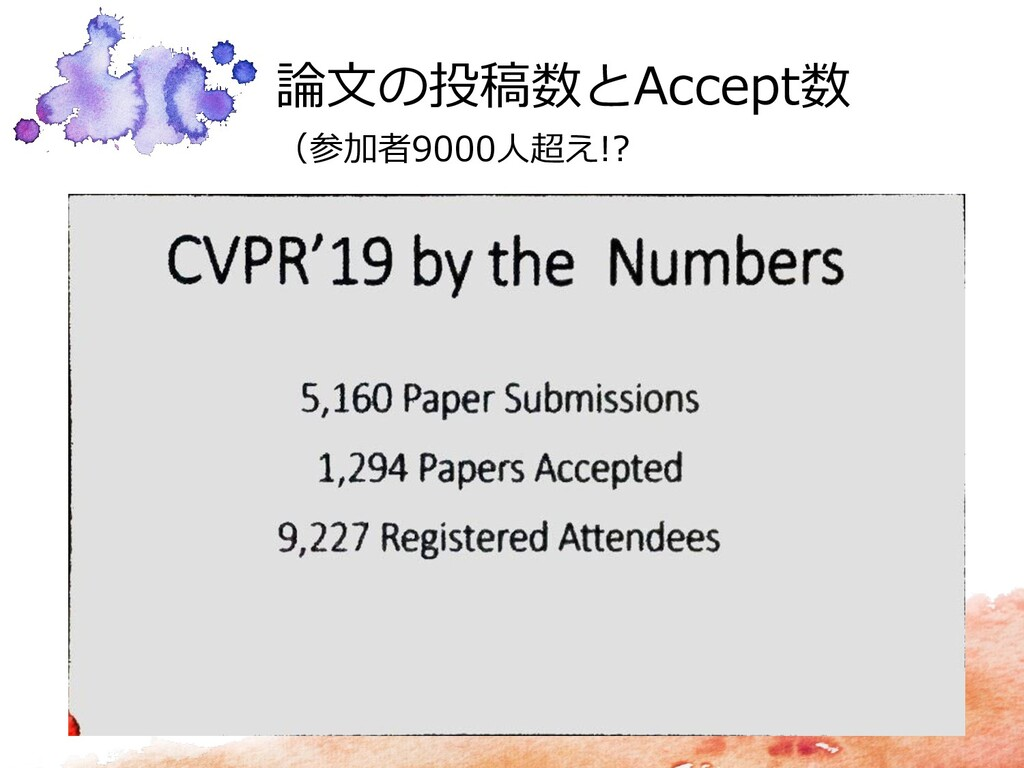 論文の投稿数とAccept数 (参加者9000人超え!?