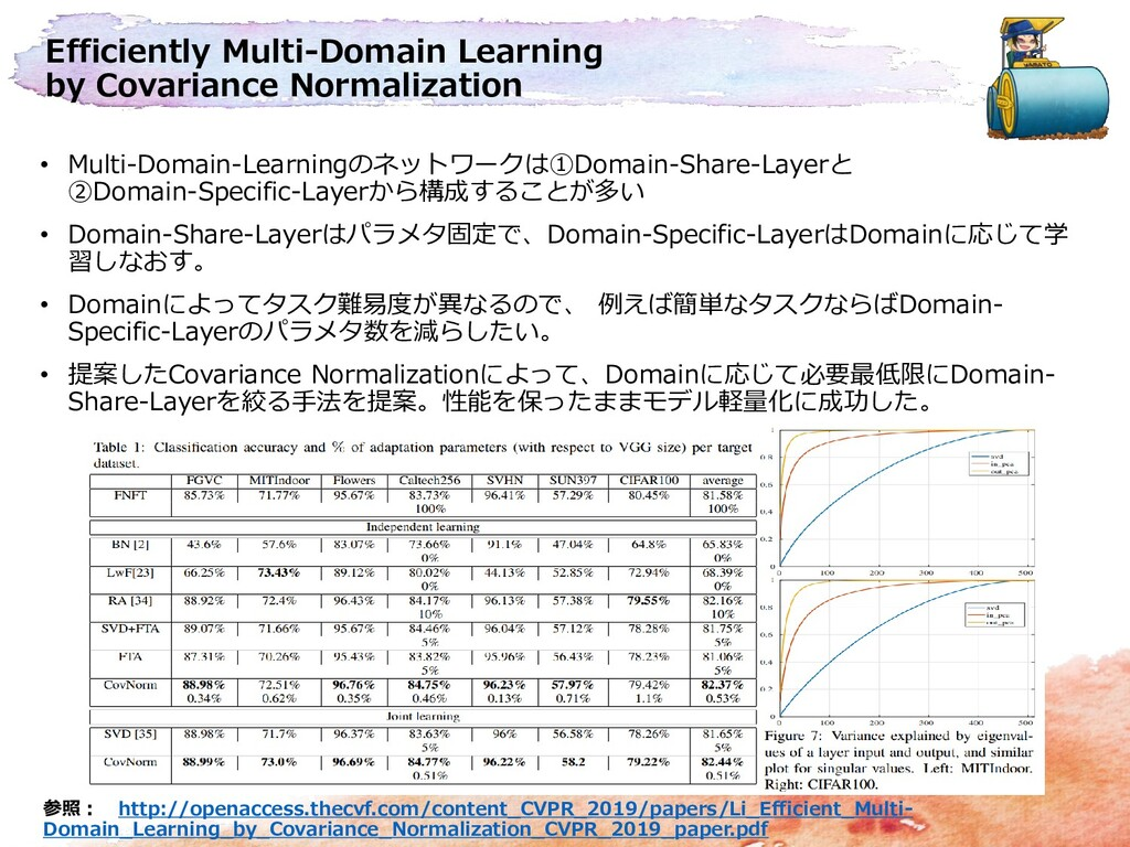 Efficiently Multi-Domain Learning by Covariance...